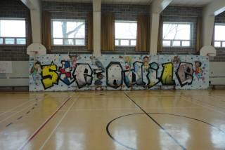 Gymnase mur d'escalade